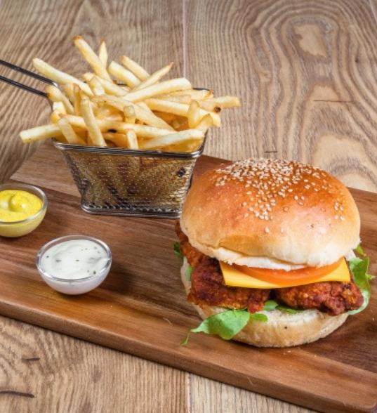 menu chicken burger