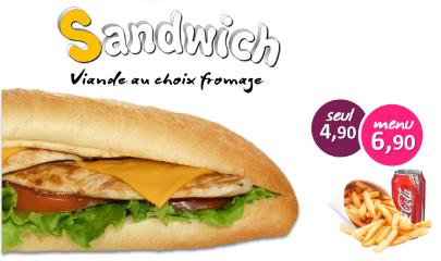 sandwich personnalisé